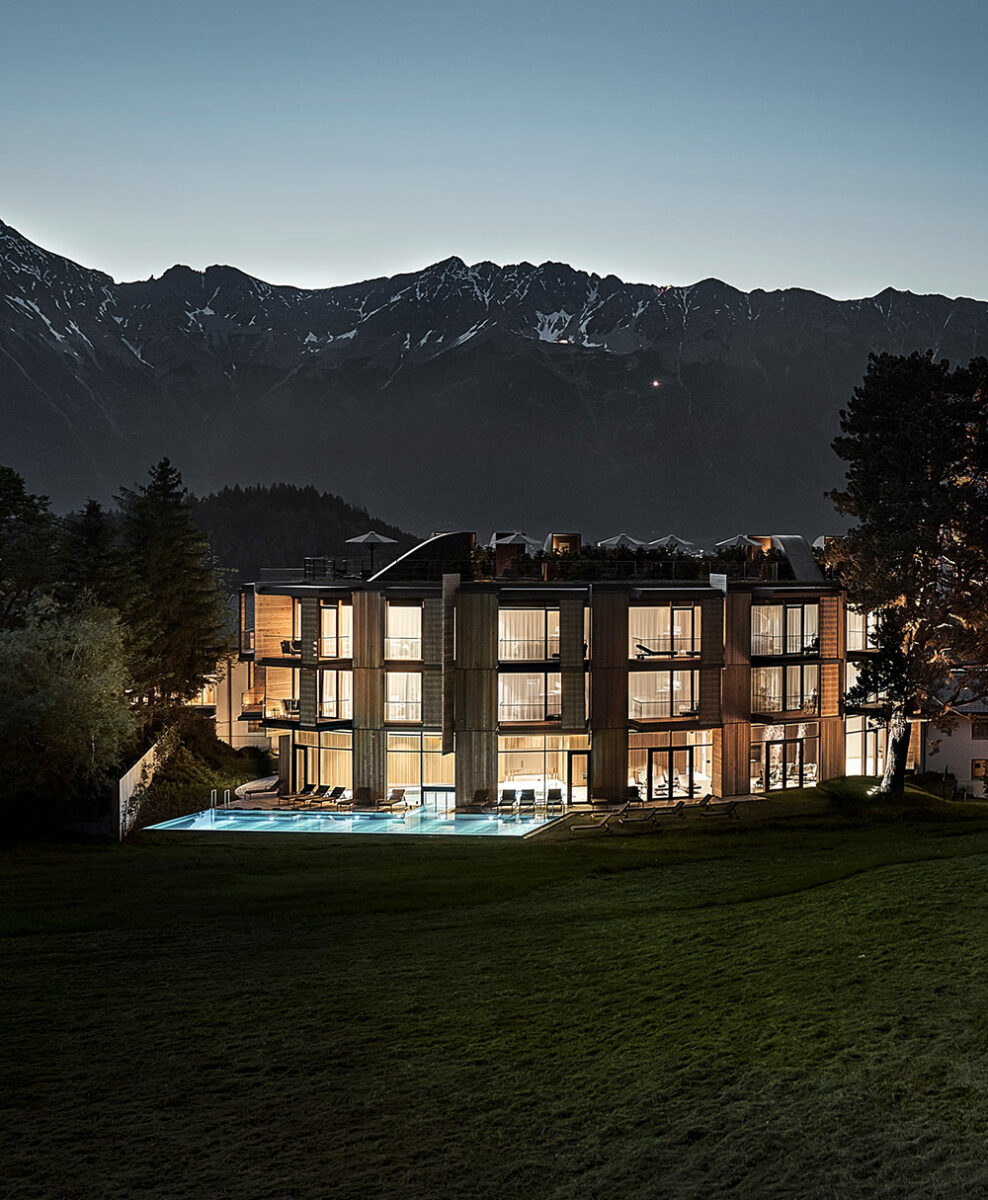 Picture of the Lanserhof resort in Lans in Austria