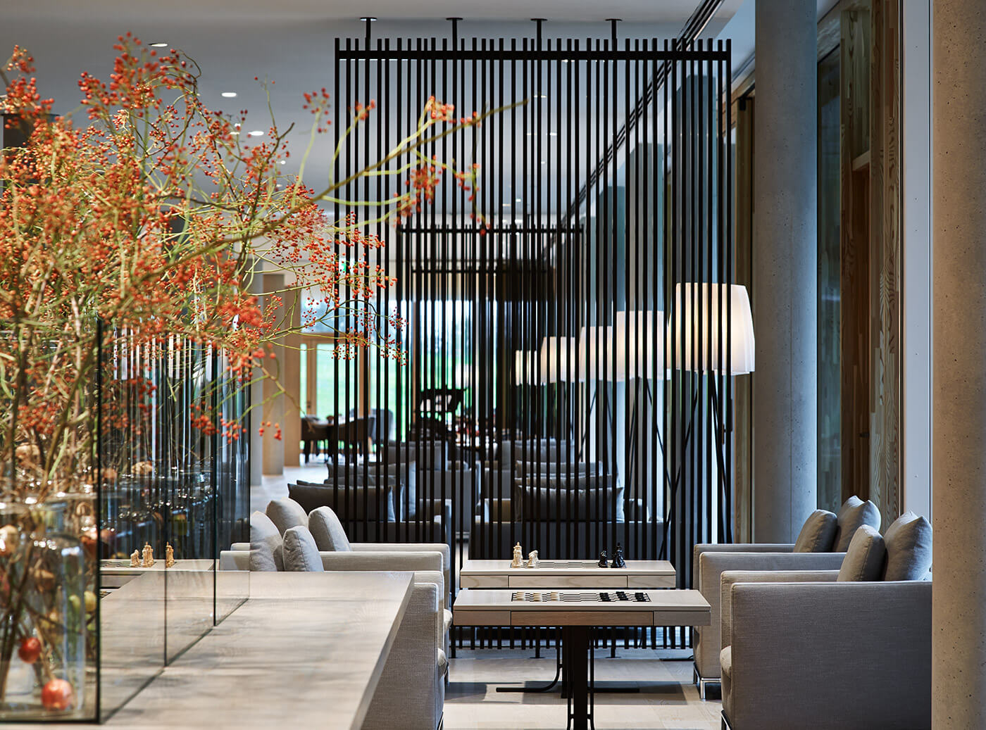 Picture of the Lobby at the Lanserhof Resort Tegernsee