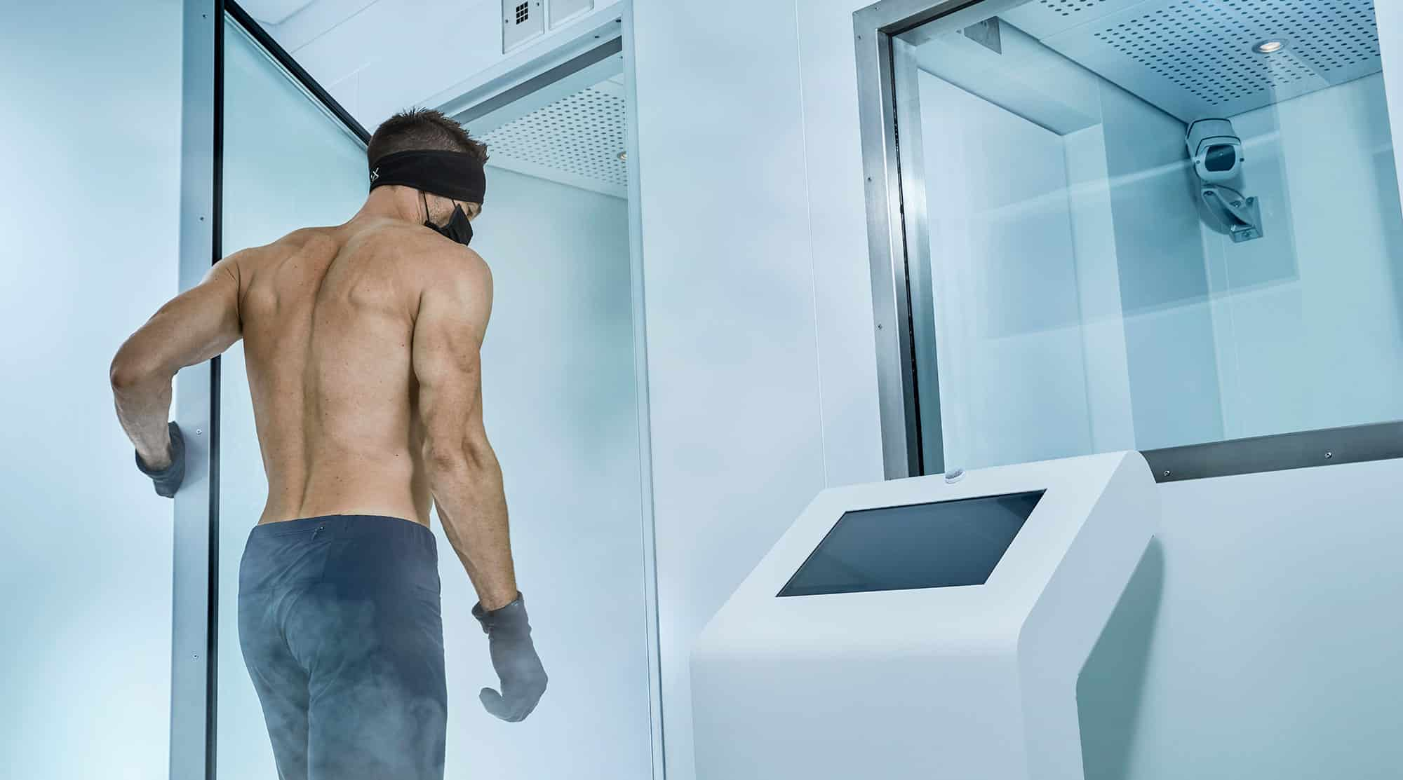 Man going in the cryotherapy room